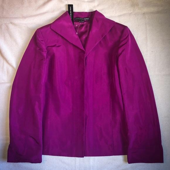 4b4dd0ee66db7c Fuchsia Silk Blazer by Linda Allard Ellen Tracy